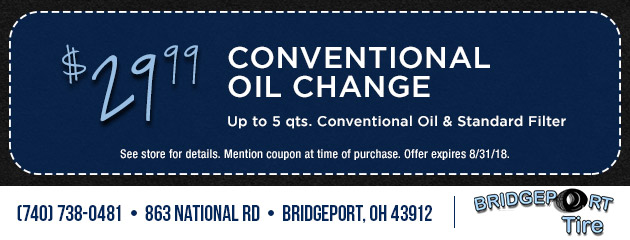 $29.99 Conventional Oil Change Special