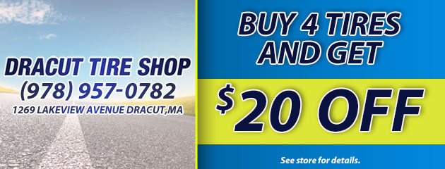 Buy 4 Tires and Get $20 Off