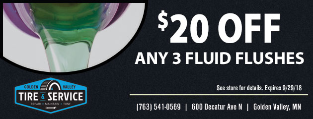 $20 Off Any Three (3) Fluid Flushes