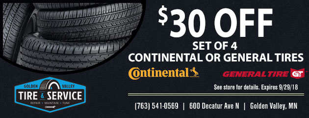 $30 Off Set of 4 Tires