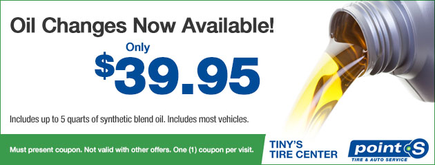 Oil changes now available - Only $39.95