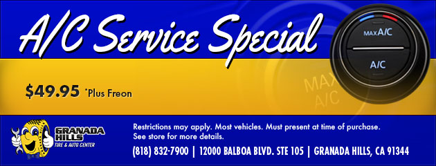 AC SERVICE SPECIAL $49.95