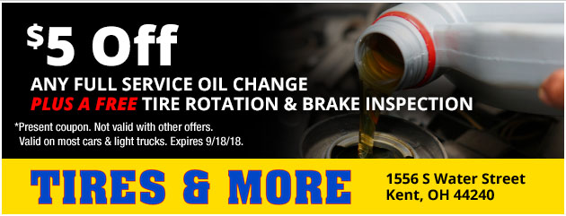 $5 Off Any Full Service Oil Change Special