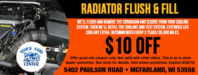 Radiator Flush and Fill Special