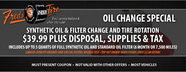 Tires Coupons Fred S Tire Service