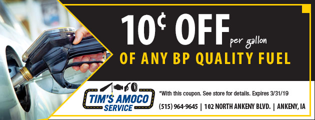 10¢ Off per gallon of any BP Quality Fuel