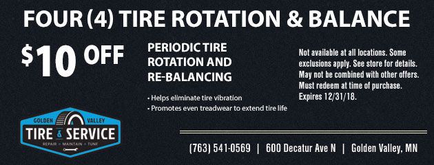 Four(4) Tire Rotation and Balance Special
