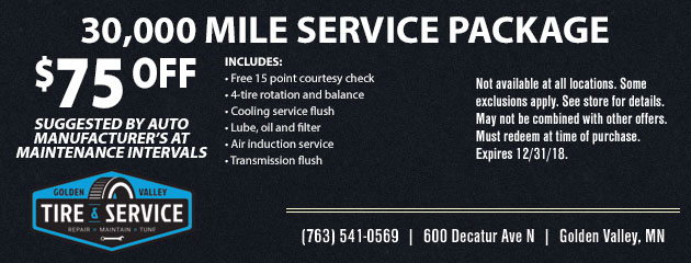 30,000 Mile Service Package