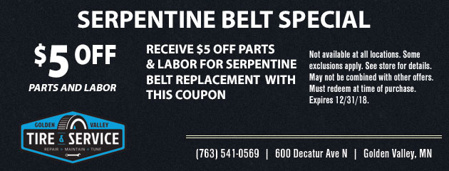Serpentine Belt Special