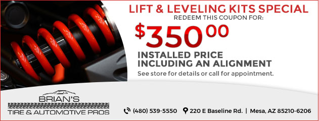 Lift & Leveling Kits Special