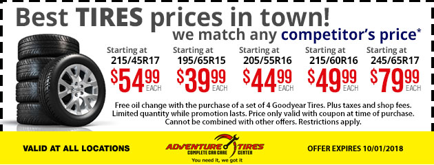 Best Tires Prices in town!