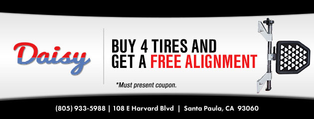 Buy 4 Tires and Get a Free Alignment