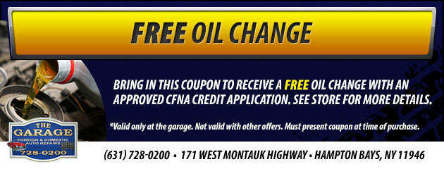 Free Oil Change Special