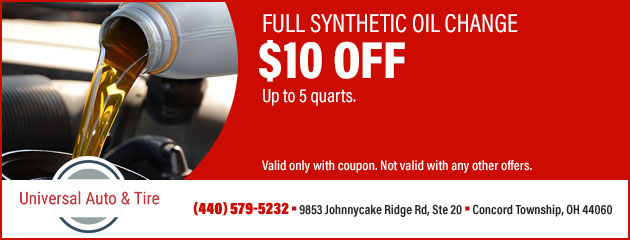 $10 Off Full Synthetic Oil Changes
