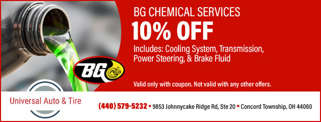 BG Chemical Services 10% Off