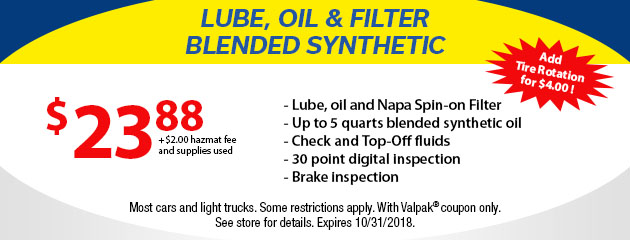 Lube, Oil and Filter Blended Synthetic