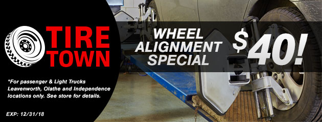 Wheel Alignment Special $40