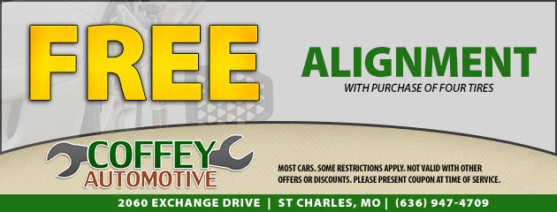 Free Alignment with Purchase of Four Tires