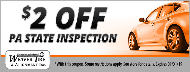 $2 Off PA State Inspection