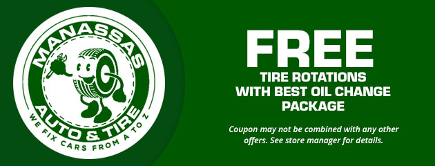Free Tire Rotations with Best Oil Change Package