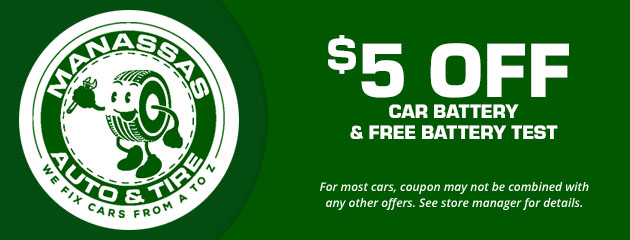 $5 Off Car Battery & Free Battery Test