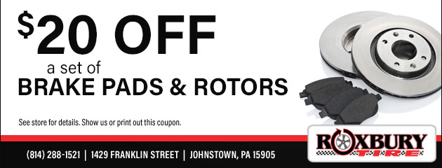 $20 OFF Brake Pads and Rotors
