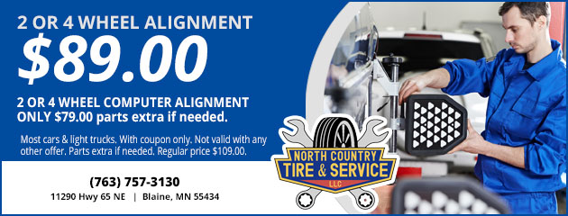 2 or 4 Wheel Alignment Special