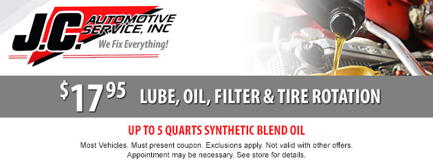 Lube, Oil, Filter, and Tire Rotation Special