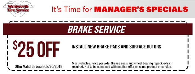 $25 Off Brake Service Special