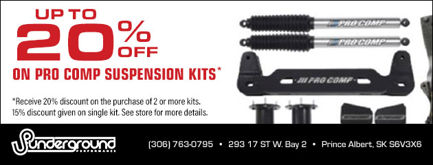 Up to 20% Off on Pro Comp Suspension Kits