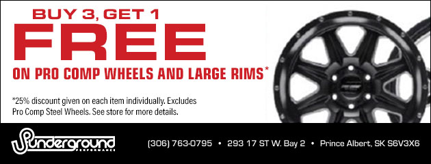 Buy 3, Get 1 Free on Pro Comp Wheels and Large Rims