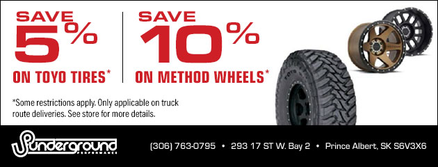 Save 5% on Toyo Tires and Save 10% on Method Wheels