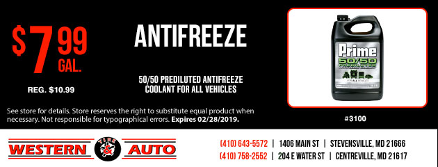 Antifreeze Special $7.99 per gallon