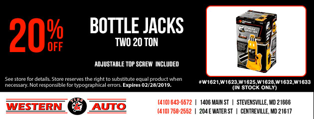 20% Off Bottles Jacks
