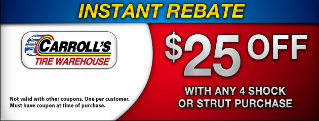 Instant Rebate on Shocks & Struts