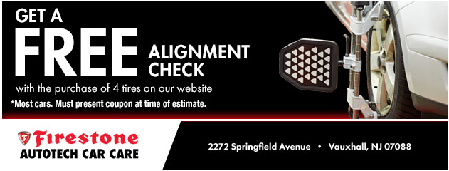 Get a FREE Alignment Check with the purchase of 4 tires on our website