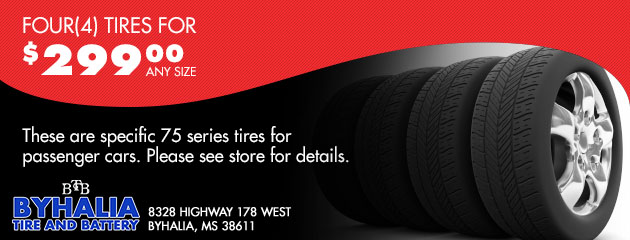 Four (4) Tires for $299.00