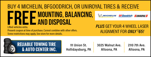 Michelin, BFGoodrich, or Uniroyal Tire Special