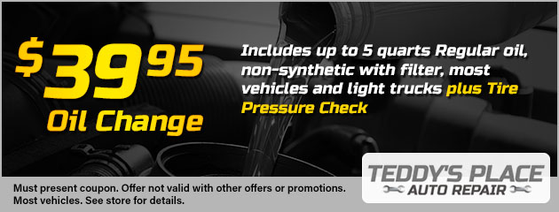 Non Synthetic Oil Change Coupon