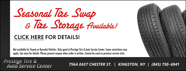 Seasonal Tire Swap and Tire Storage Available!