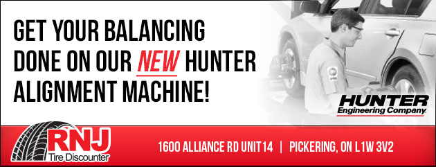 Get your balancing done on our new Hunter alignment machine