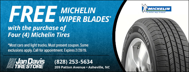 Free Michelin Wipers with Michelin Tire Purchase