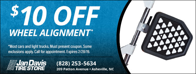 $10 Off Wheel Alignment Special