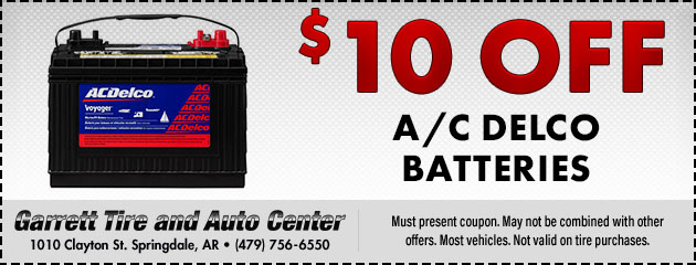 $10 Off A/C Delco Batteries