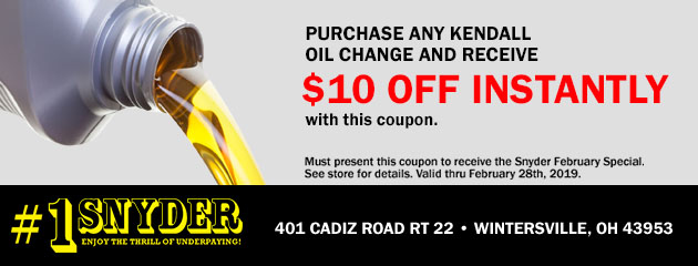 Kendall Oil Change Special