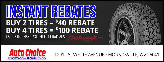 Tire Choice Total Car Care, Instant Rebate On Select Mastercraft Tires, Tire Choice Total Car Care
