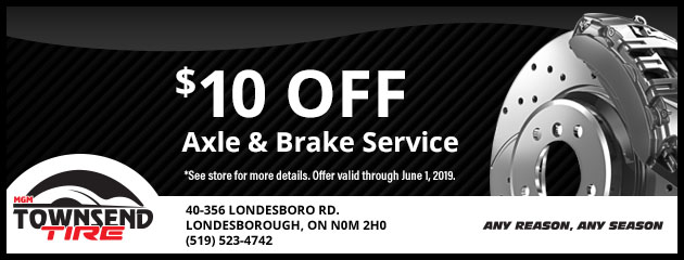 $10 Off Axle and Brake Service