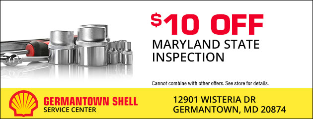 $10 Off Maryland State Inspection