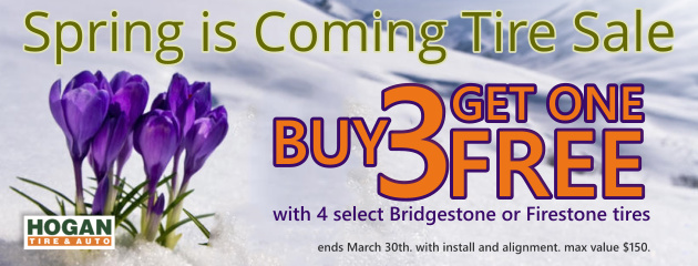 Buy 3 Get 1 FREE Spring is Coming Tire Sale