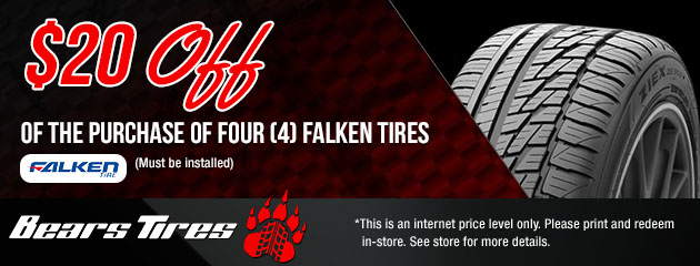 $20 Off a set of 4 Falken Tires